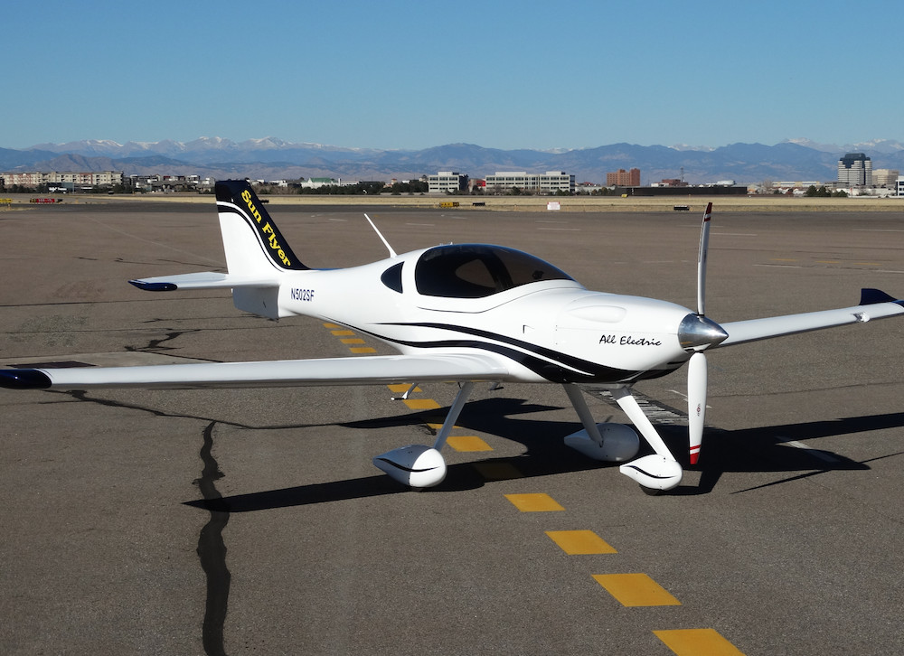 sunflyer electric plane