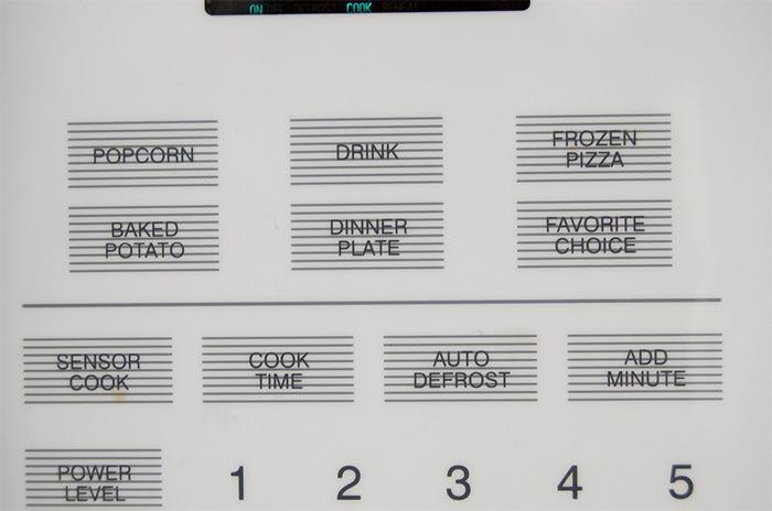 microwave-keypad