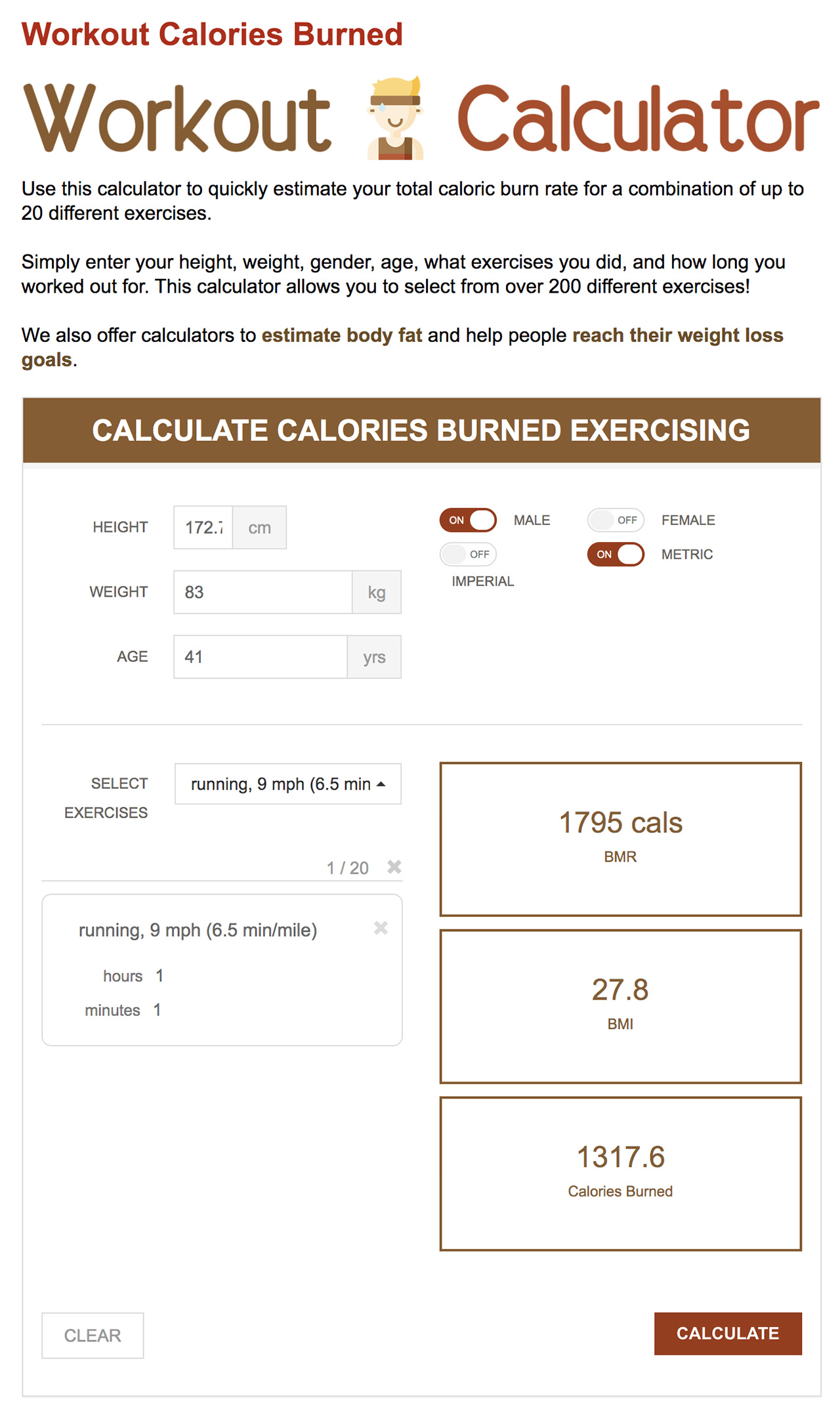workout-calc